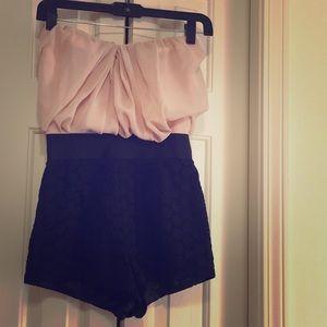 ASOS petite pink, chic Romper